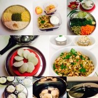 MIXED DAL IDLI WITH BROWN BASMATI RICE /DALIYA( CRACKED WHEAT)/QUINOA AND VEGETABLE UPMA WITH MIXED DAL IDLI