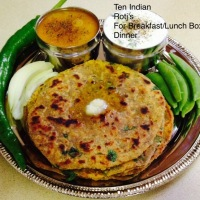 TEN INDIAN ROTI'S FOR BREAKFAST , LUNCH BOX AND DINNER WITH VEGETABLES