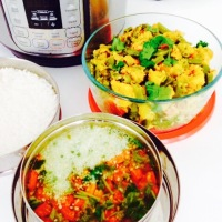 INSTANT POT INDIAN BROAD BEANS MASALA CURRY, TOMATO RASAM AND STEAMED RICE - PIP COOKING