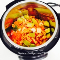 VEGETABLE PASTA - DINNER/KIDS LUNCH BOX- INSTANT POT - 5  INGREDIENTS